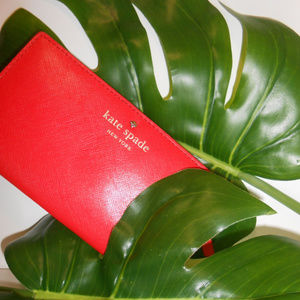 Kate Spade Prickly Pear Bifold Leather Wallet